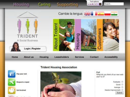 Trident Housing Association Website